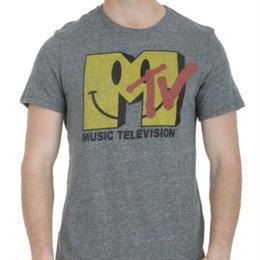 【USA直輸入】MTV Tシャツ スマイル グレー ケーブルテレビ 海外Tシャツ