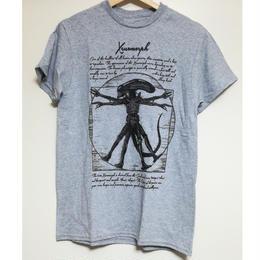 【USA直輸入】Alien エイリアン ウィトルウィウス的人体 Tシャツ 映画