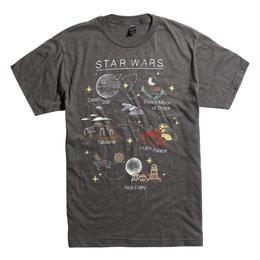 【USA直輸入】STARWARS スターマップ Tシャツ スターウォーズ