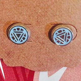 【USA直輸入】MARVEL アイアンマン アークリアクター ピアス スタッド マーベル 正規品