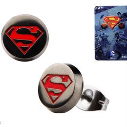 【USA直輸入】DC スーパーマン ロゴ ブラック ピアス アクセサリー DCコミック