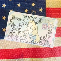【海外商品】不思議の国のアリス ウォレット 財布 がまぐち  エアメール風