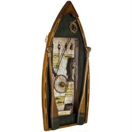 【USA直輸入】フィッシングボート シャドーボックス 看板 釣り ウォールデコ  ツリ