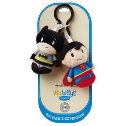 【USA直輸入】CLIPPYS  DCコミックス バットマン スーパーマン ぬいぐるみ ittybittys 約8cm hallmark