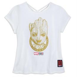 【USA直輸入】 MARVEL 10周年記念 ガーディアンズオブギャラクシー グルート アップ レディース Tシャツ バックプリント マーベル 映画 MCU