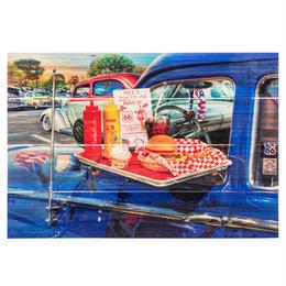【USA直輸入】ウォールデコ ドライブスルー ハンバーガー 木製 パレット 看板