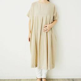 綿麻・製品染め・半袖ワンピース(PH9207)