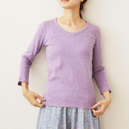 七分袖V‐ネックTシャツ    (PH9102)
