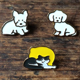 てらおかなつみ・犬猫ピンズ