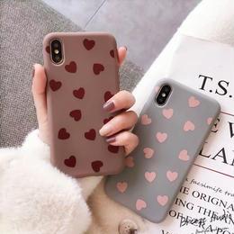 【即納】iPhoneケース ハート柄 ソフトケース シリコンケース iPhonexsケース XSケース 韓国 可愛い かわいい おしゃれ シンプル オルチャン 韓国デザイン iPhone7ケース