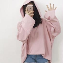 【即納】パーカー ピンク オーバーサイズ 韓国 韓国ファッション シンプル フリーサイズ