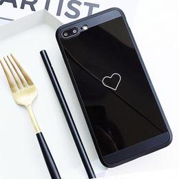 【即納】iPhoneケース ハート ミラー iphone 6plus 6splus plus ケース おしゃれ 人気 韓国  アイフォン あいぽん アイフォン6plus 7plus 8plus
