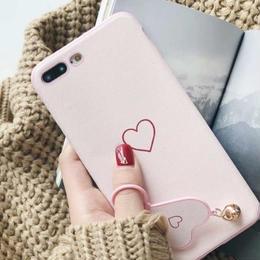 【即納】iPhoneケース ハート マット リング iphone 6plus 6splus plus ケース おしゃれ 人気 韓国  アイフォン あいぽん アイフォンx xs x アイフォンxs