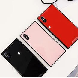 【即納】iPhoneケース スクエア スクエアケース iphone 6plus x xs plus ケース おしゃれ 人気 韓国  アイフォン あいぽん アイフォン6plus 6 6s アイフォンx