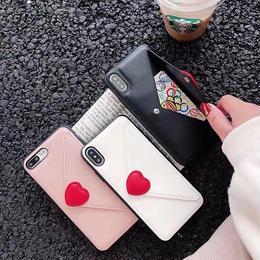 iPhoneケース 手紙 レター 韓国 人気 おすすめ iPhoneカバー アイフォンケース アイフォン7ケース アイフォン8 iphone 8  plus x 黒 ブラック 白 ホワイト ピンク
