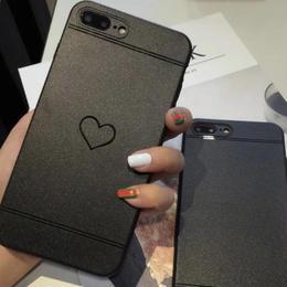【即納】iPhoneケース ハート マット iphone 6plus 6splus plus ケース おしゃれ 人気 韓国  アイフォン あいぽん アイフォン6plus アイフォン6splus