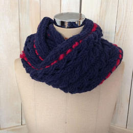 【SALE】bulky cable snood navy