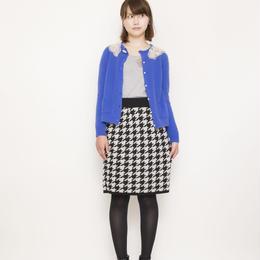 【SALE】hound`s tooh Skirt beige x black