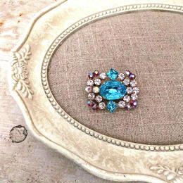 bijou brooch ③ aquamarine