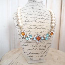 cotton pearl bijoux necklace 032④