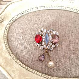 bijou brooch ⑤  frost blue x pearl