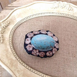 bijou print brooch turquoise