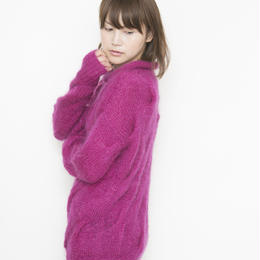 【SALE】mohair cable Pullover pink