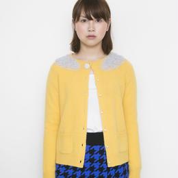 【SALE】tulle angora Cardigan yellow
