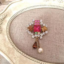 bijou brooch ⑤  frost pink x pearl