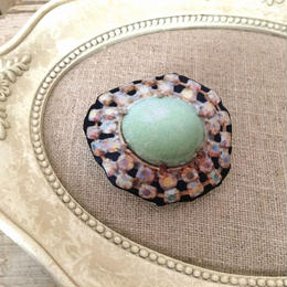 bijou print brooch large green①