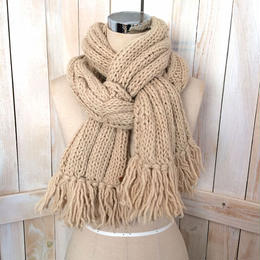 【SALE】bulky cable muffler beige