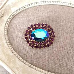 bijou brooch ④  metalic purple