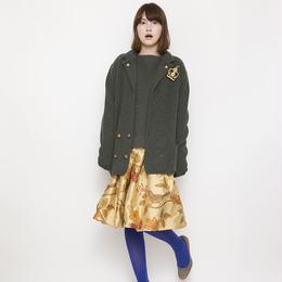 【SALE】half milano rib Jacket khaki
