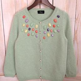【sample SALE】Candy jewel Cardigan mint