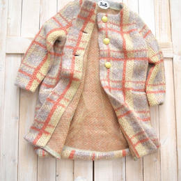 【SALE】mohair check Coat grey check