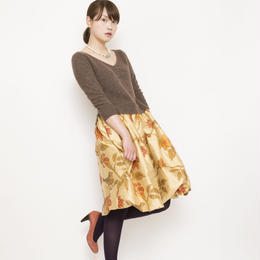 【SALE】silk skirt Onepiece