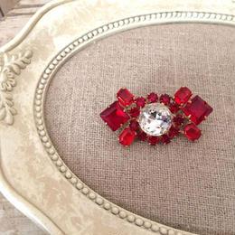bijou brooch ③ red