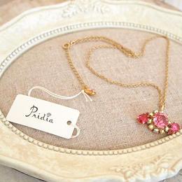 skinny chain bijou pendant pink x clear
