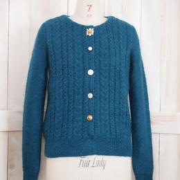 cable bijoux Cardigan  green