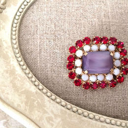 bijou brooch ④  matte purple x off white x red