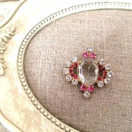 bijou brooch ③ clear x pink