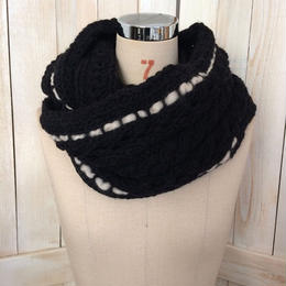【SALE】bulky cable snood black