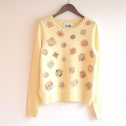 【sample SALE】bijoux print Pullover lemon