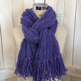 【SALE】bulky cable muffler purple