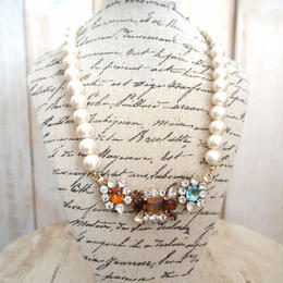 cotton pearl bijoux necklace petite 33⑥