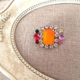 bijou brooch ③ matte orange