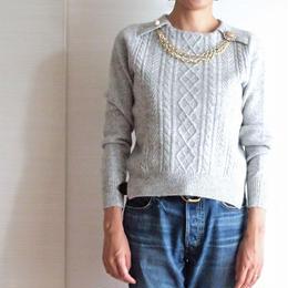 bijou necklace Pullover grey