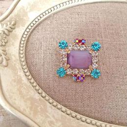 bijou brooch ①  purple x blue