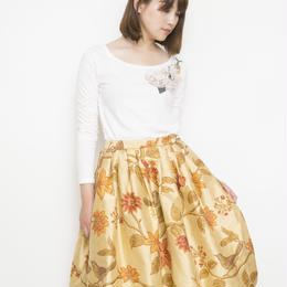 【sample SALE】silk bird print Skirt