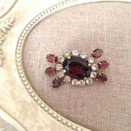 bijou brooch ③ amethyst purple